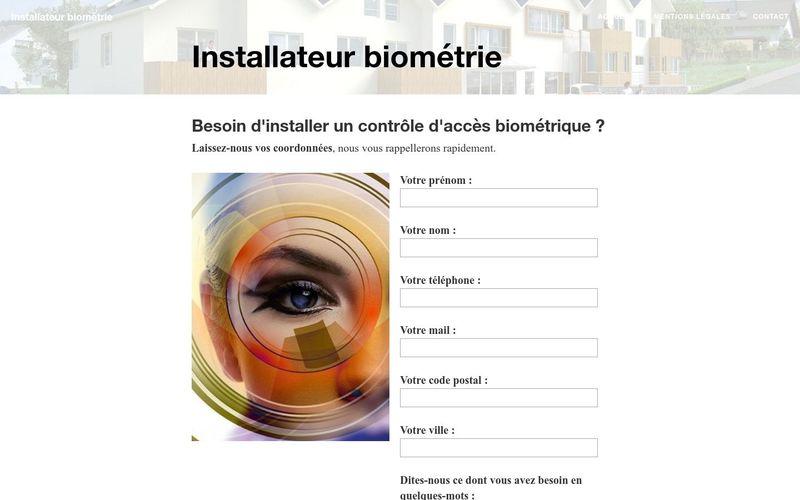 Installateur biométrie
